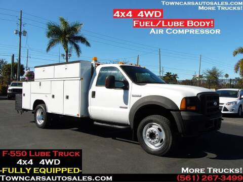 2007 Ford F-550 Super Duty for sale at Town Cars Auto Sales in West Palm Beach FL