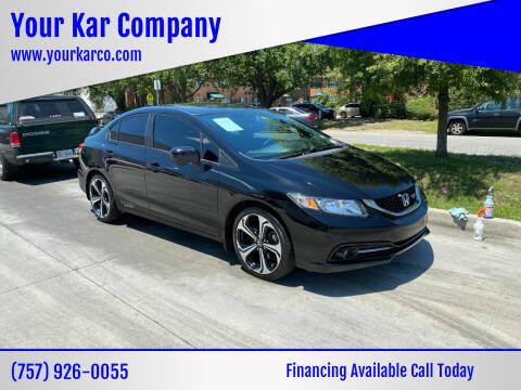2015 Honda Civic for sale at Your Kar Company in Norfolk VA