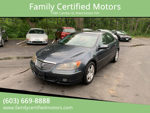 2008 Acura RL for sale at Family Certified Motors in Manchester NH