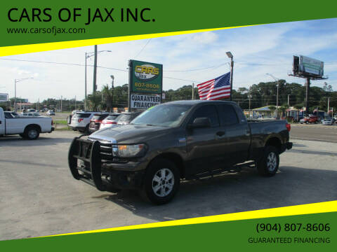 2010 Toyota Tundra for sale at CARS OF JAX INC. in Jacksonville FL