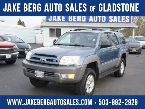 2003 Toyota 4Runner for sale at Jake Berg Auto Sales in Gladstone OR