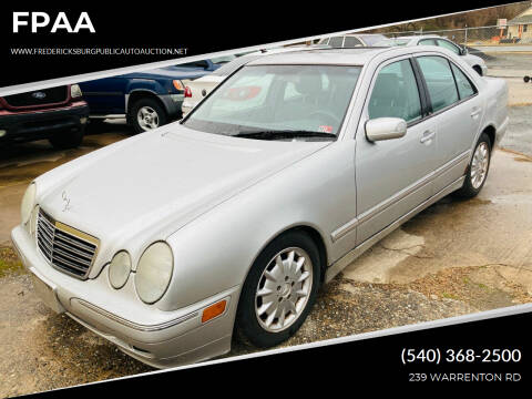 2001 Mercedes-Benz E-Class for sale at FPAA in Fredericksburg VA