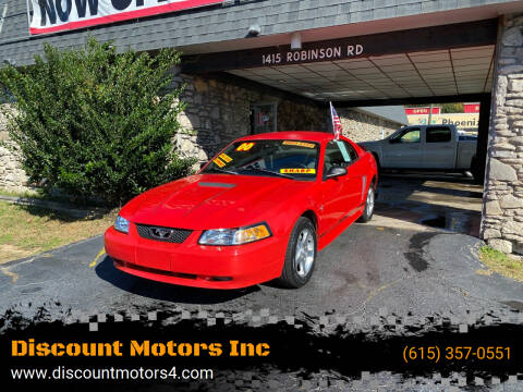 2000 Ford Mustang for sale at Discount Motors Inc in Old Hickory TN