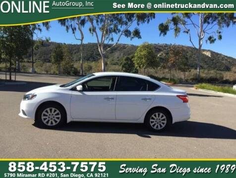 2016 Nissan Sentra for sale at Online Auto Group Inc in San Diego CA