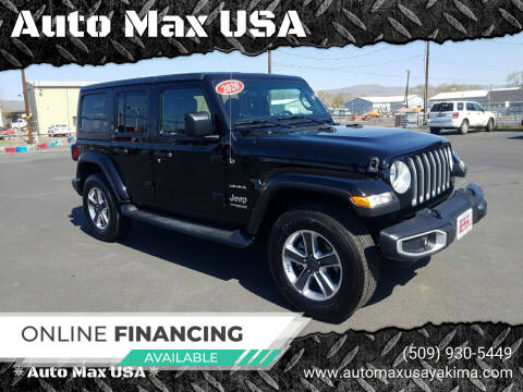 2020 Jeep Wrangler Unlimited for sale at Auto Max USA in Yakima WA