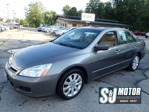 2007 Honda Accord for sale at S & J Motor Co Inc. in Merrimack NH