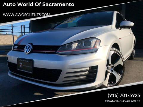 2015 Volkswagen Golf GTI for sale at Auto World of Sacramento Stockton Blvd in Sacramento CA
