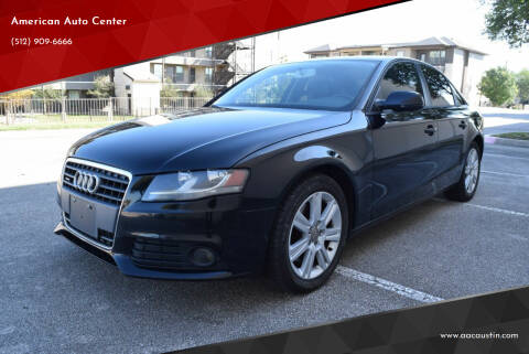 2010 Audi A4 for sale at American Auto Center in Austin TX