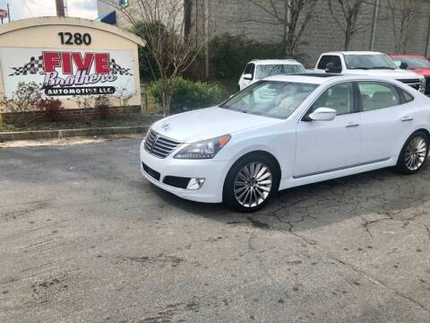 2014 Hyundai Equus for sale at Five Brothers Auto Sales in Roswell GA