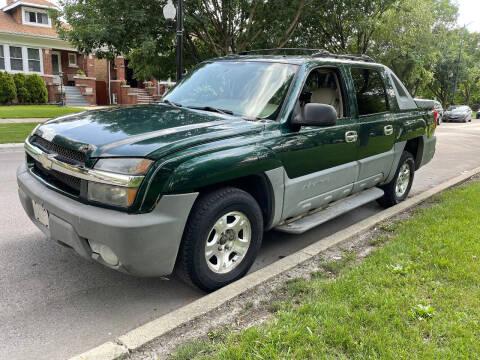 2002 Chevrolet Avalanche for sale at Apollo Motors INC in Chicago IL
