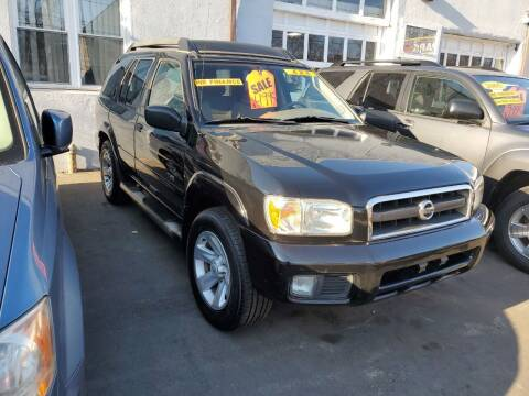 2003 Nissan Pathfinder for sale at PARK AUTO SALES in Roselle NJ