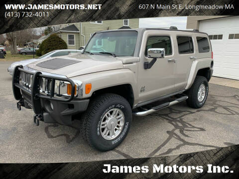 2007 HUMMER H3 for sale at James Motors Inc. in East Longmeadow MA