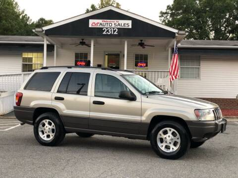 2003 Jeep Grand Cherokee for sale at CVC AUTO SALES in Durham NC