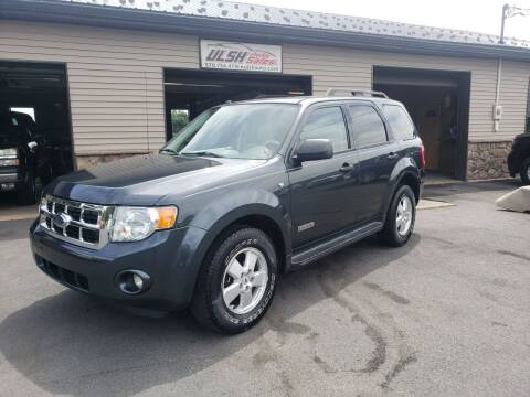2008 Ford Escape for sale at Ulsh Auto Sales Inc. in Summit Station PA