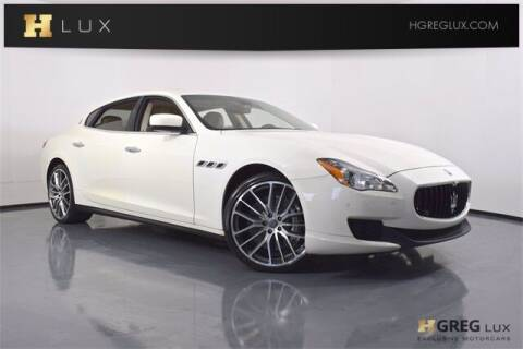 2014 Maserati Quattroporte for sale at HGREG LUX EXCLUSIVE MOTORCARS in Pompano Beach FL
