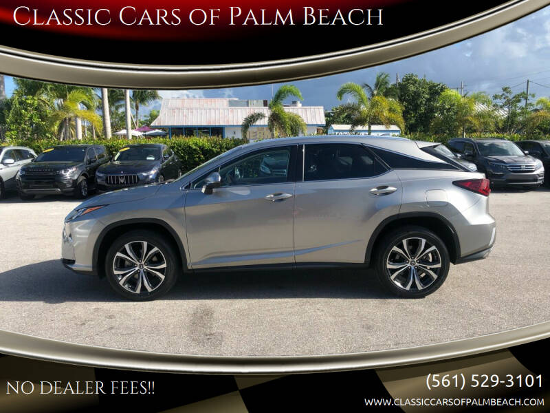 2018 Lexus RX 350 for sale at Classic Cars of Palm Beach in Jupiter FL