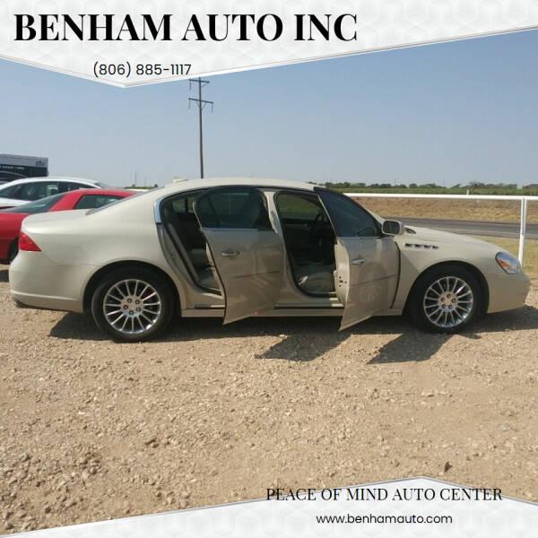 2010 Buick Lucerne for sale at BENHAM AUTO INC in Lubbock TX