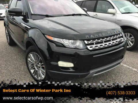 2012 Land Rover Range Rover Evoque for sale at Select Cars Of Winter Park Inc in Orlando FL
