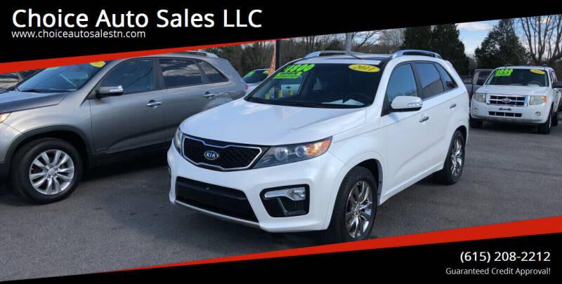 2011 Kia Sorento for sale at Choice Auto Sales LLC - Cash Inventory in White House TN