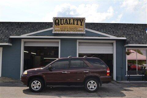 2001 Acura MDX for sale at Quality Pre-Owned Automotive in Cuba MO