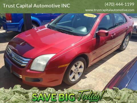 2008 Ford Fusion for sale at Trust Capital Automotive Inc. in Covington GA