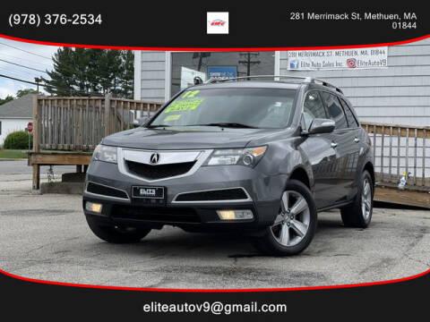 2012 Acura MDX for sale at ELITE AUTO SALES, INC in Methuen MA