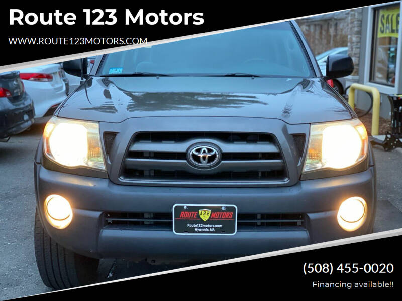 2009 Toyota Tacoma for sale at Route 123 Motors in Norton MA