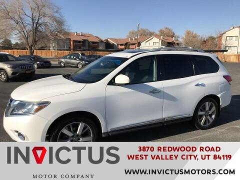 2013 Nissan Pathfinder for sale at INVICTUS MOTOR COMPANY in West Valley City UT