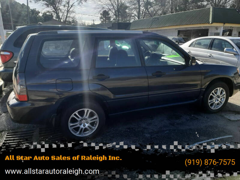 2008 Subaru Forester for sale at All Star Auto Sales of Raleigh Inc. in Raleigh NC