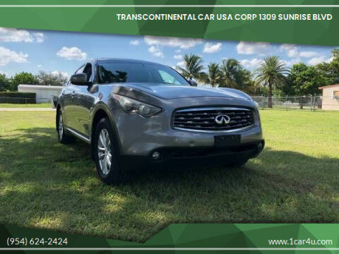 2009 Infiniti FX35 for sale at Transcontinental Car in Fort Lauderdale FL