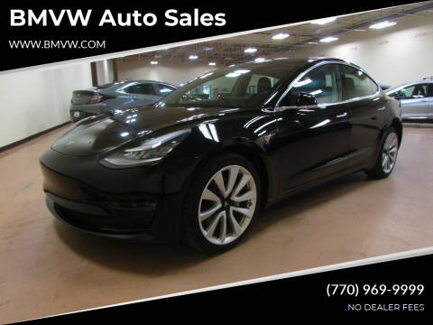 2019 Tesla Model 3 for sale at BMVW Auto Sales - Electric Vehicles in Union City GA