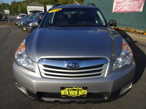 2011 Subaru Outback for sale at MOUNTAIN VIEW AUTO in Lyndonville VT