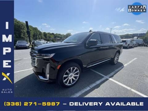 2021 Cadillac Escalade ESV for sale at Impex Auto Sales in Greensboro NC