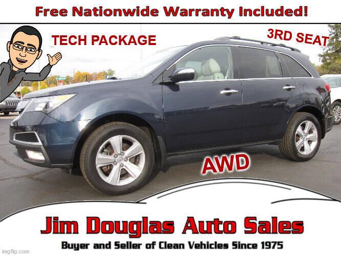 2012 Acura MDX for sale at Jim Douglas Auto Sales in Pontiac MI