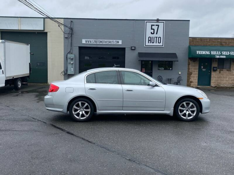 2006 Infiniti G35 for sale at 57 AUTO in Feeding Hills MA