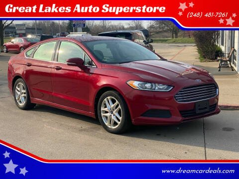 2013 Ford Fusion for sale at Great Lakes Auto Superstore in Pontiac MI