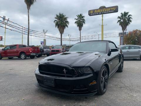 2013 Ford Mustang for sale at A MOTORS SALES AND FINANCE - 10110 West Loop 1604 N in San Antonio TX