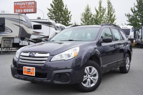 2013 Subaru Outback for sale at Frontier Auto & RV Sales in Anchorage AK