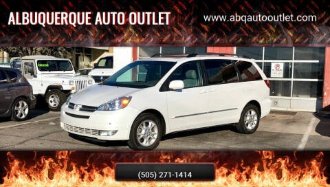 2004 Toyota Sienna for sale at ALBUQUERQUE AUTO OUTLET in Albuquerque NM
