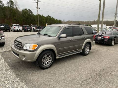 2004 Toyota Sequoia for sale at Billy Ballew Motorsports in Dawsonville GA