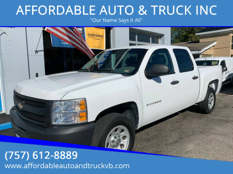 2013 Chevrolet Silverado 1500 for sale at AFFORDABLE AUTO & TRUCK INC in Virginia Beach VA