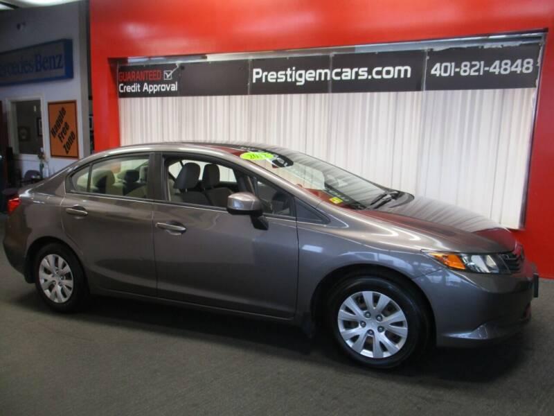 2012 Honda Civic for sale at Prestige Motorcars in Warwick RI