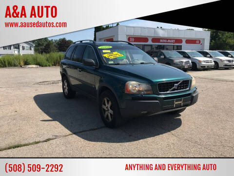 2004 Volvo XC90 for sale at A&A AUTO in Fairhaven MA