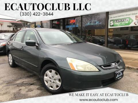 2004 Honda Accord for sale at ECAUTOCLUB LLC in Kent OH