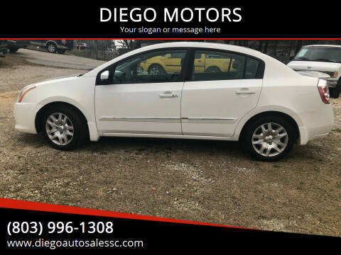 2012 Nissan Sentra for sale at DIEGO MOTORS in Lexington SC