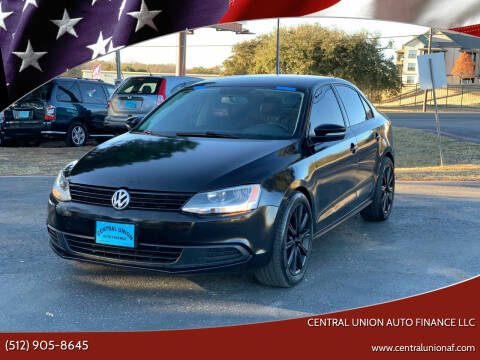 2012 Volkswagen Jetta for sale at Central Union Auto Finance LLC in Austin TX