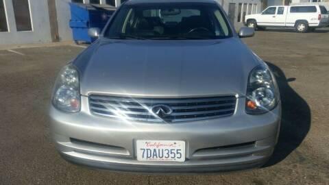 2003 Infiniti G35 for sale at Regal Autos Inc in West Sacramento CA