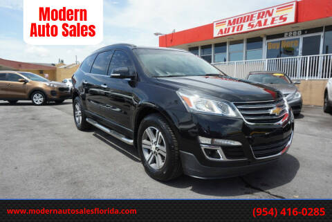 2015 Chevrolet Traverse for sale at Modern Auto Sales in Hollywood FL