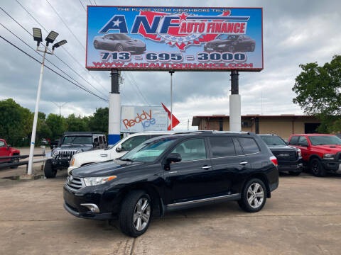 2013 Toyota Highlander for sale at ANF AUTO FINANCE in Houston TX