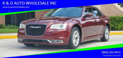 2015 Chrysler 300 for sale at K & O AUTO WHOLESALE INC in Jacksonville FL